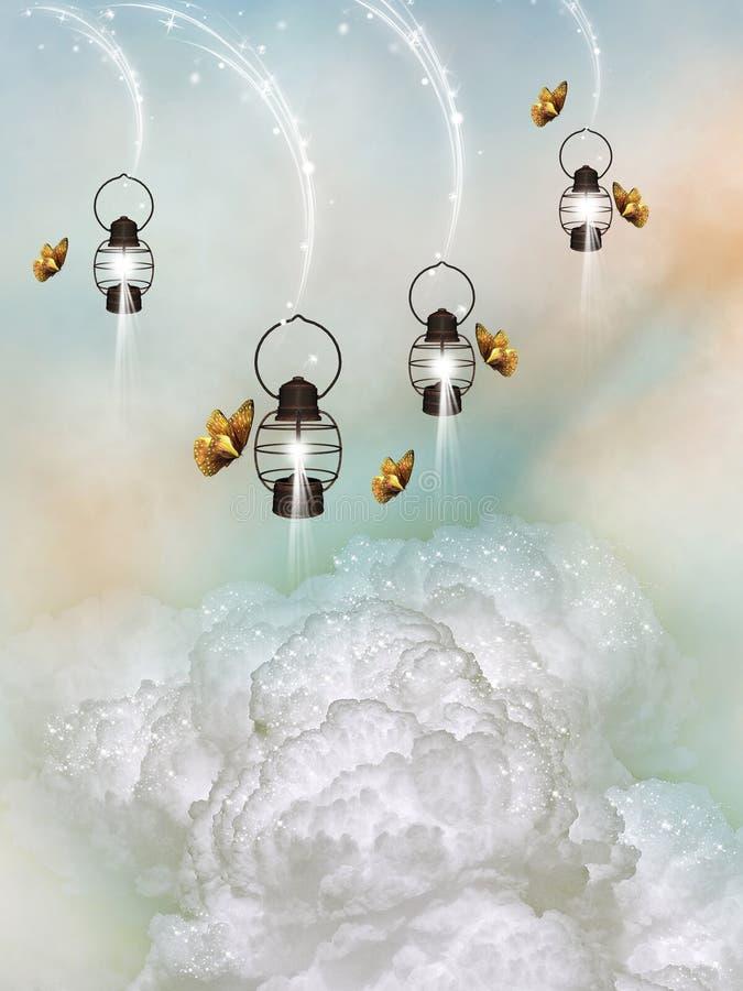 Lámparas ilustración del vector