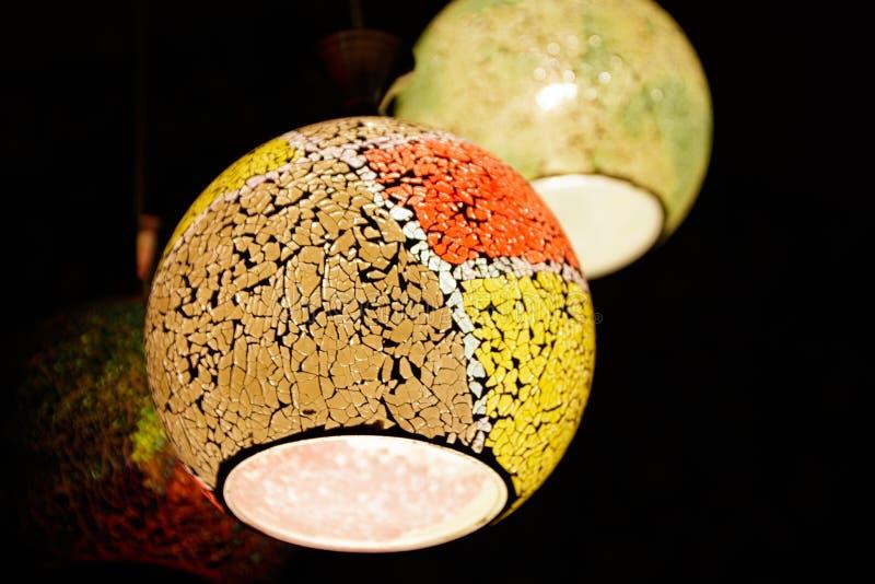 Lámparas coloridas foto de archivo