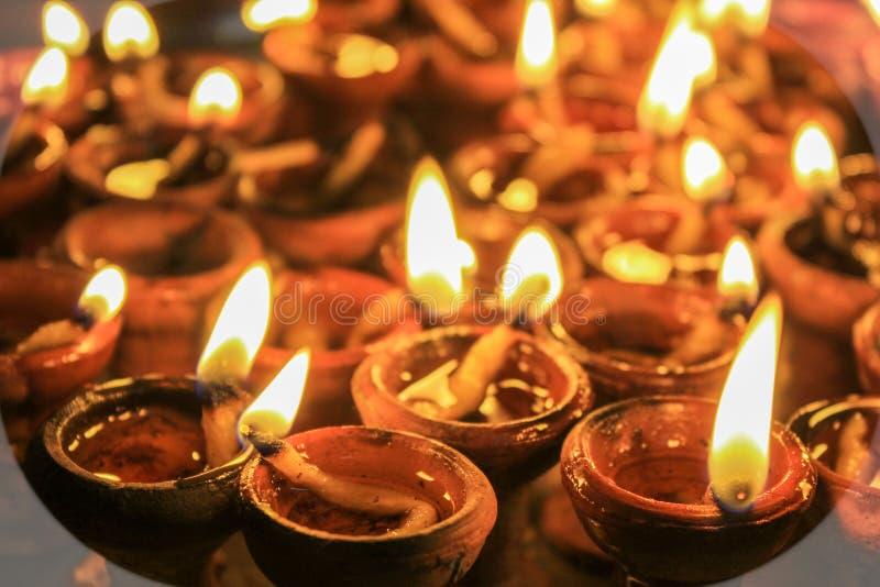 Lámparas de Diwali fotografía de archivo