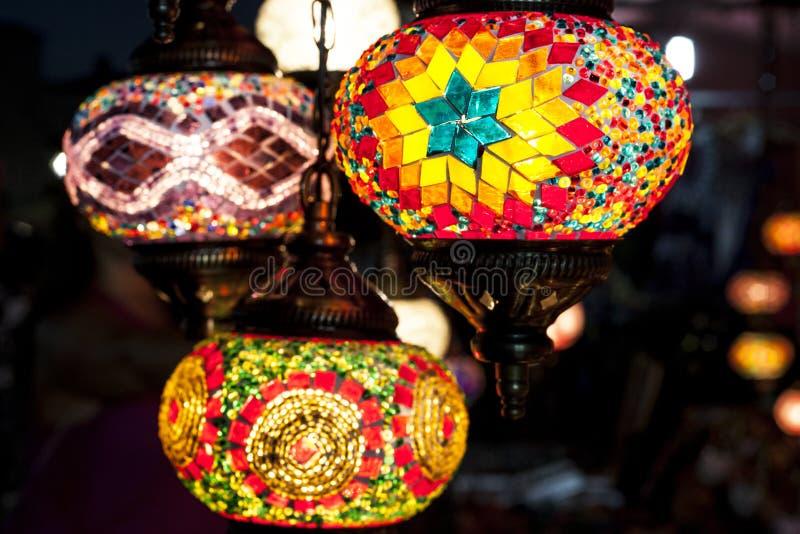 Lámparas de la ejecución del mosaico imágenes de archivo libres de regalías