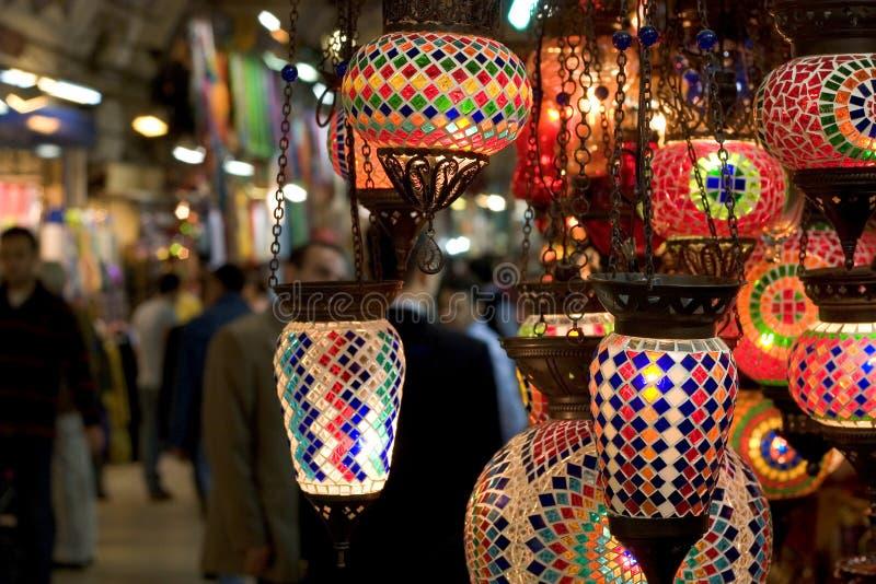 Lámparas magníficas del bazar foto de archivo