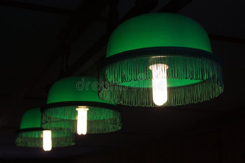 Lámparas para los billares imágenes de archivo libres de regalías