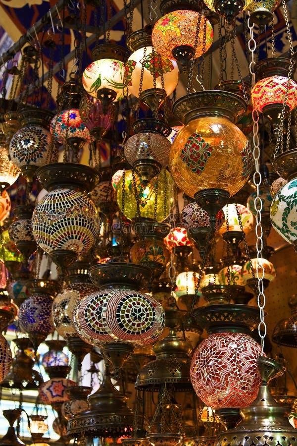 Lámparas turcas tradicionales imagen de archivo