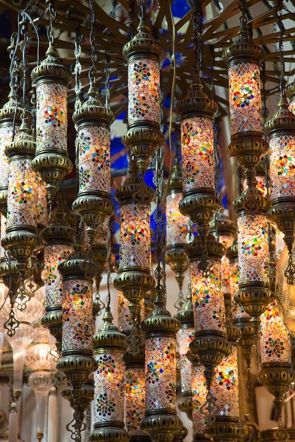Lámparas turcas tradicionales foto de archivo