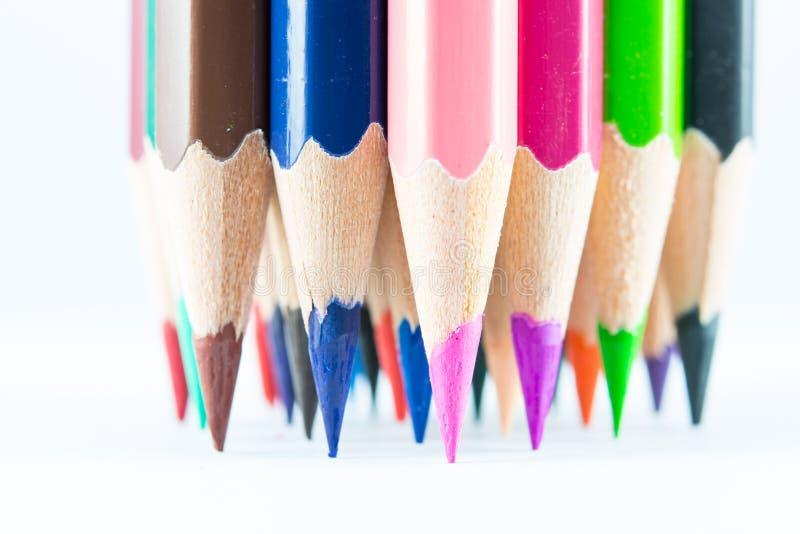 Lápices acentuados del color imagen de archivo