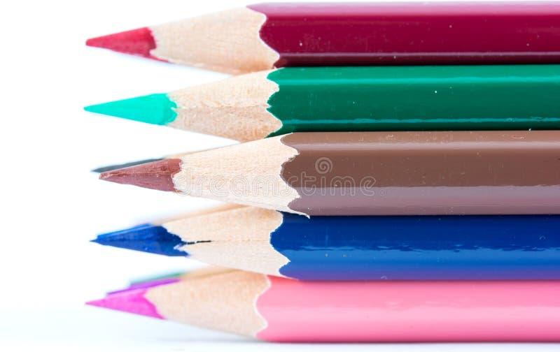 Lápices acentuados del color fotos de archivo libres de regalías