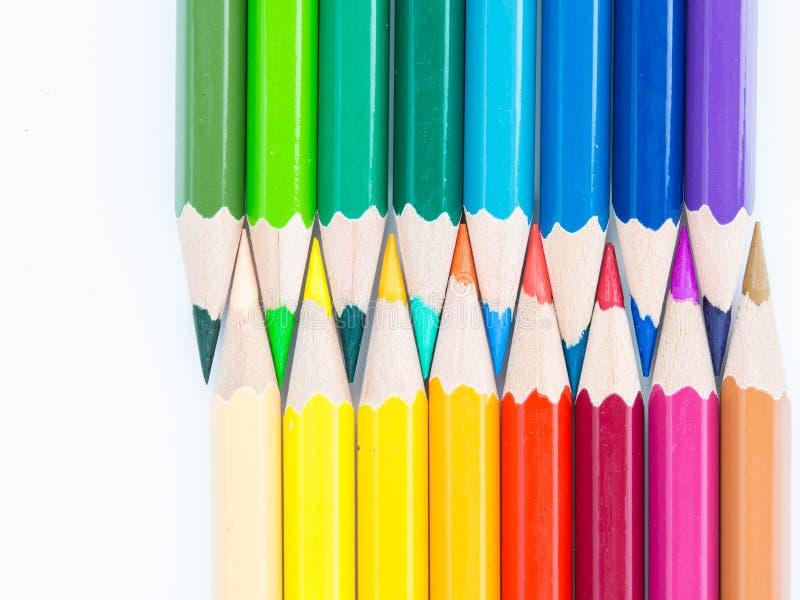 Lápices acentuados del color imágenes de archivo libres de regalías