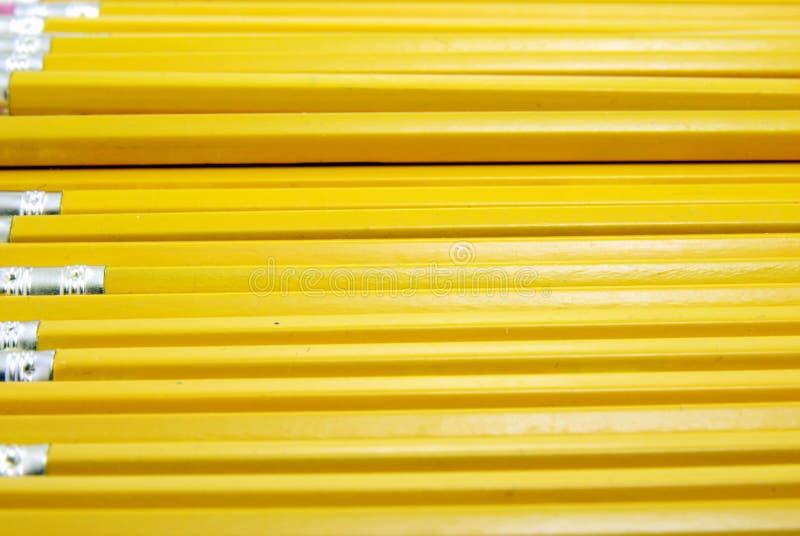 Lápices amarillos foto de archivo