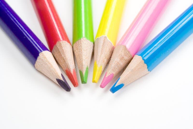 Lápices coloreados imagen de archivo libre de regalías
