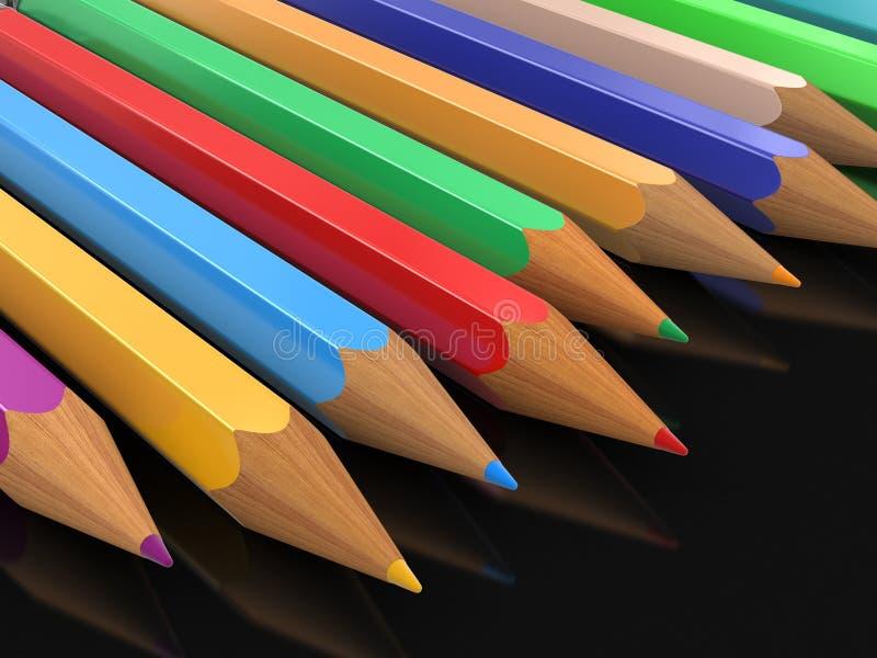 Lápices coloreados (trayectoria de recortes incluida) libre illustration