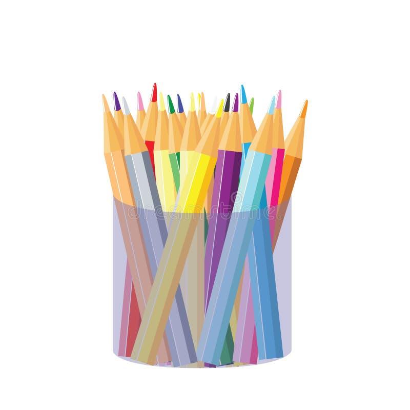 Lápices de Colores stock de ilustración
