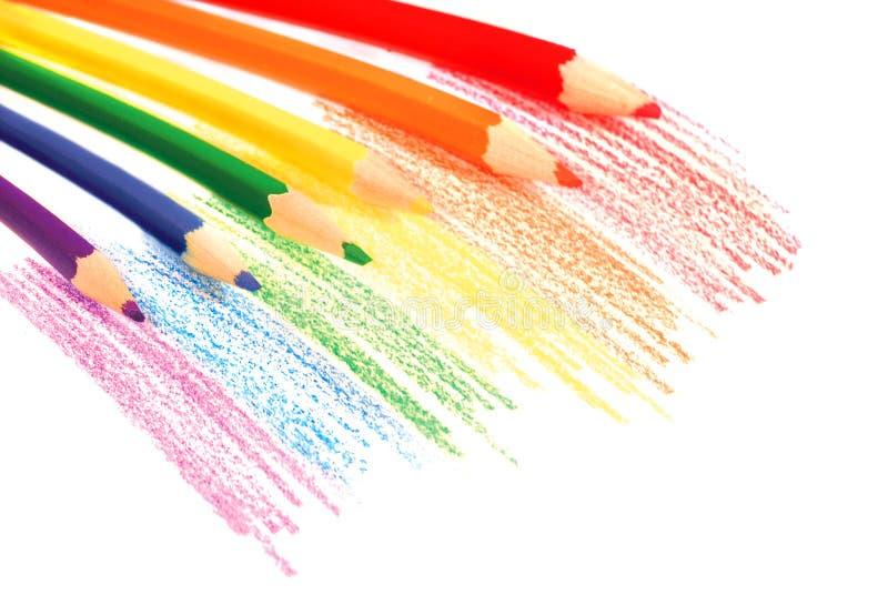 Download Lápices del arco iris foto de archivo. Imagen de colorante - 10161412