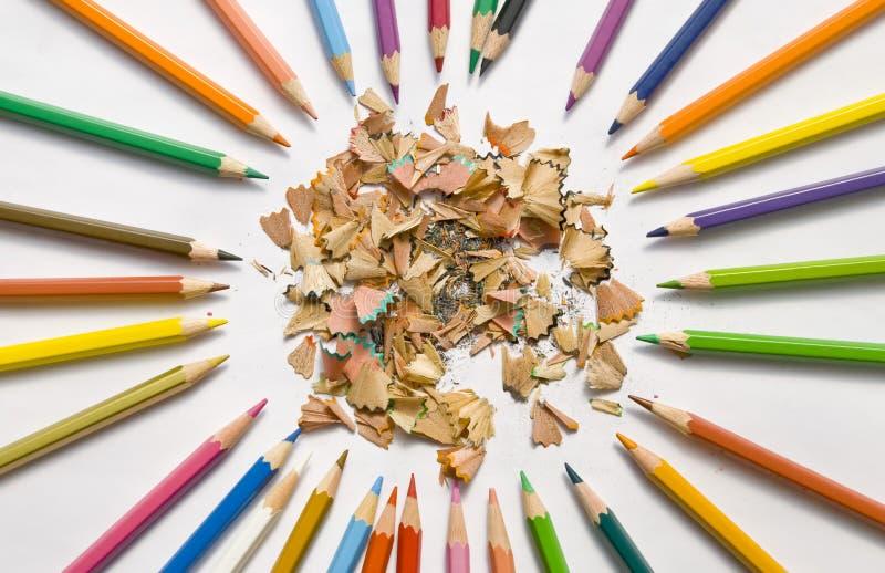 lápices Fino-moldeados y nuevos imagen de archivo