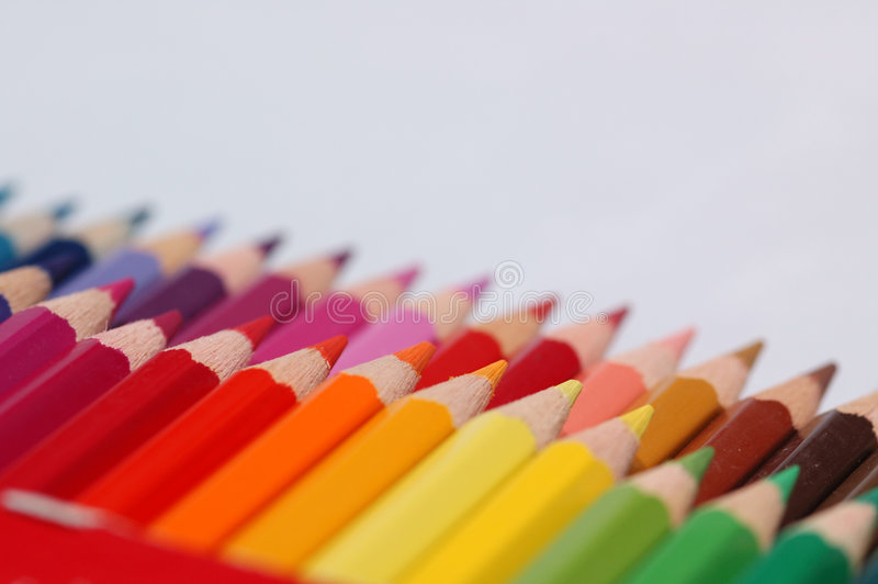 Lápices multi del color fotos de archivo libres de regalías