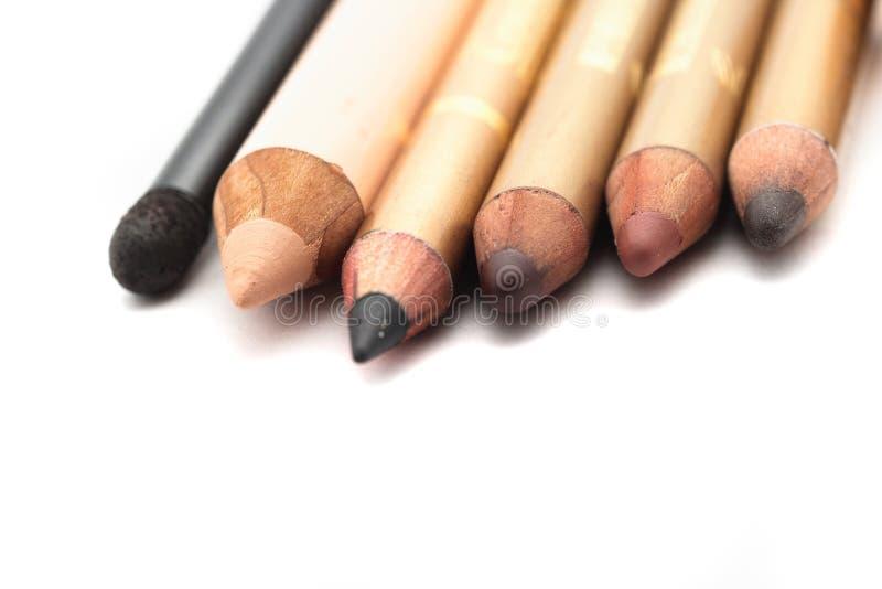 Lápices para el maquillaje foto de archivo