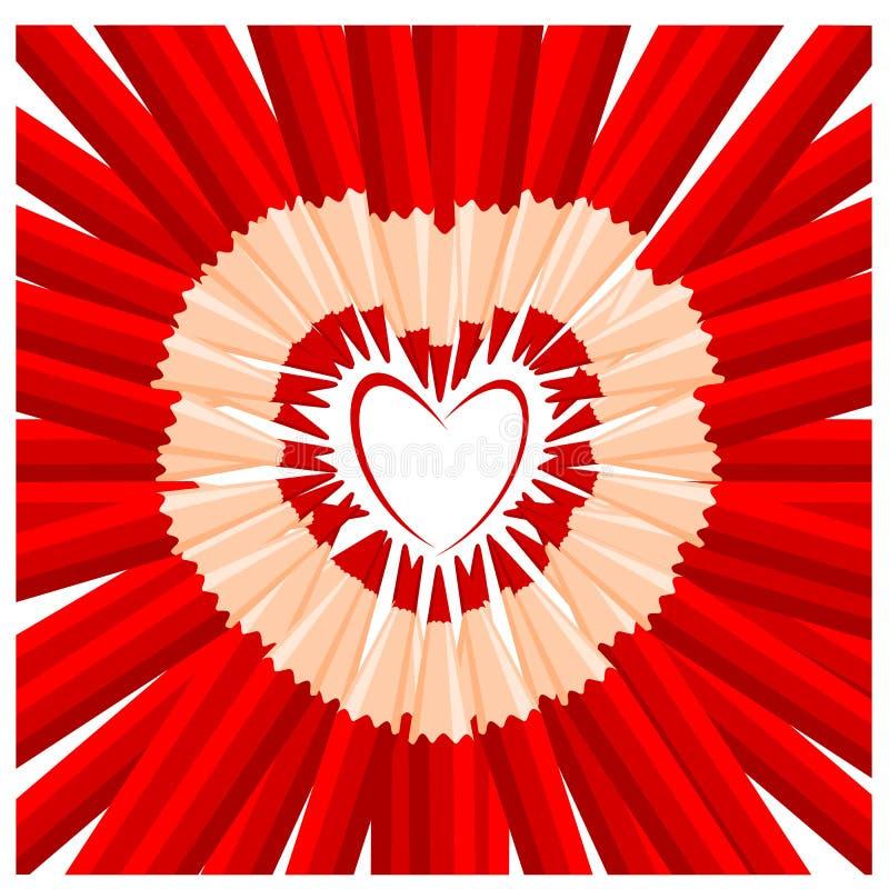 Lápices rojos stock de ilustración