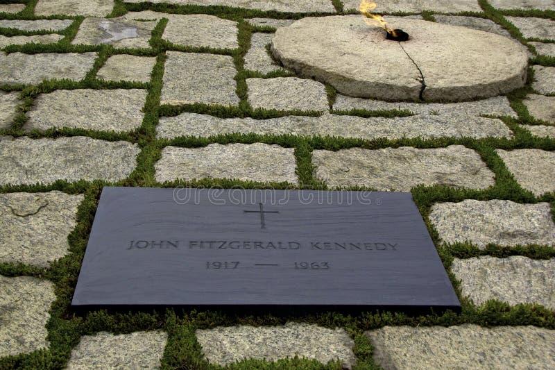 Lápida mortuaria de JFK fotos de archivo libres de regalías