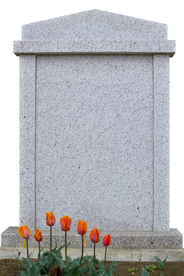 Lápida mortuaria en blanco fotos de archivo