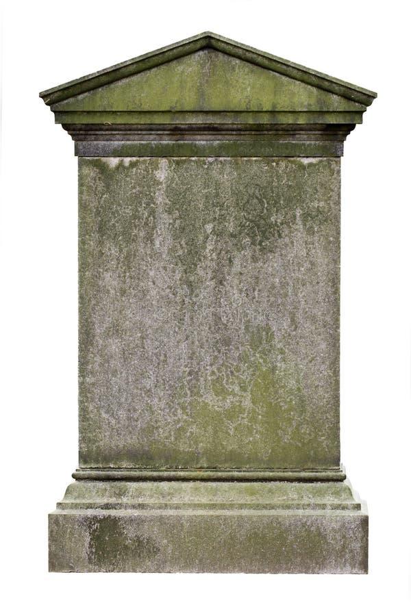 Lápida mortuaria en blanco fotos de archivo libres de regalías