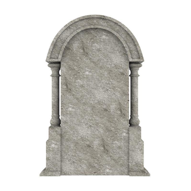 Lápida mortuaria en blanco aislada ilustración del vector