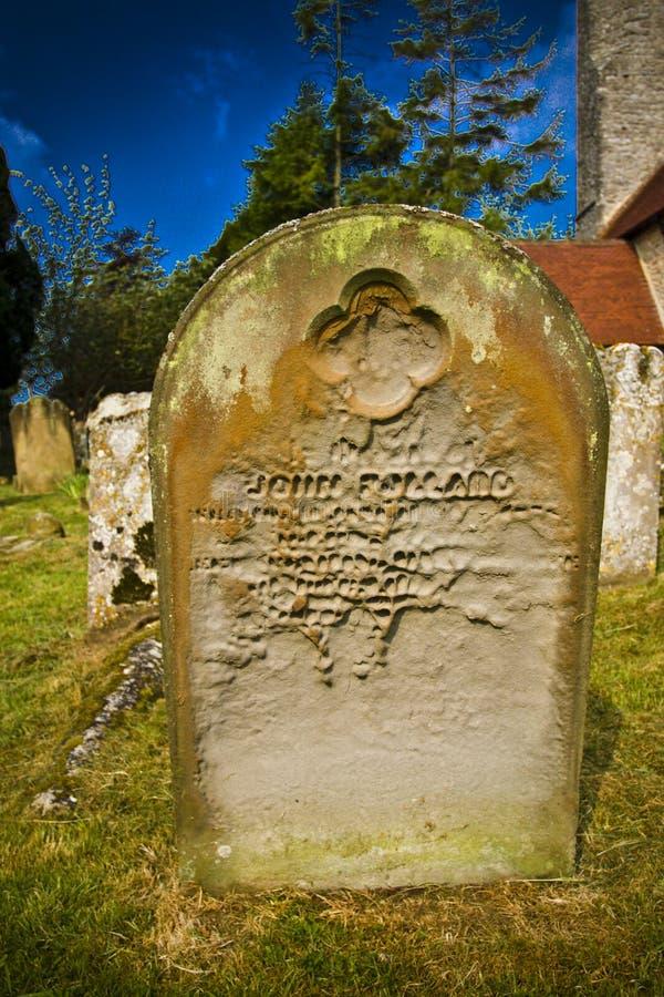 Lápida mortuaria gótica fotografía de archivo