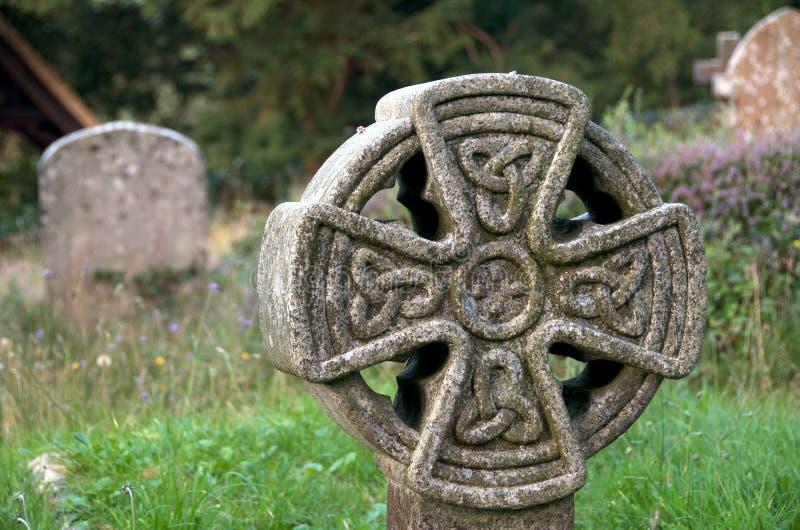 Lápida mortuoria céltica fotografía de archivo libre de regalías