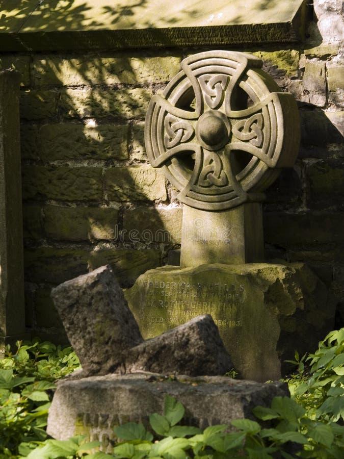 Lápida mortuoria céltica imagenes de archivo