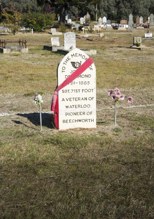 Lápida mortuoria de John Drummond fotografía de archivo libre de regalías