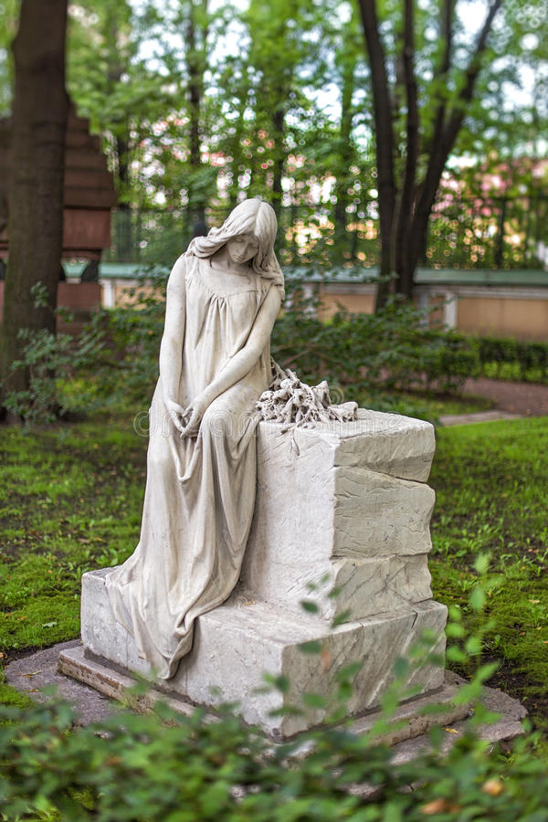 Lápida mortuoria del profesor de Anna Esipova conservadora imagenes de archivo