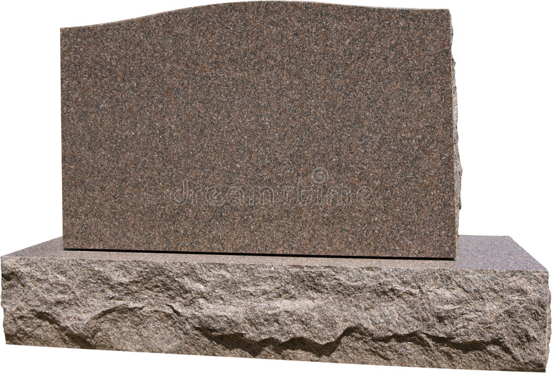 Lápida mortuoria grave en blanco imagenes de archivo