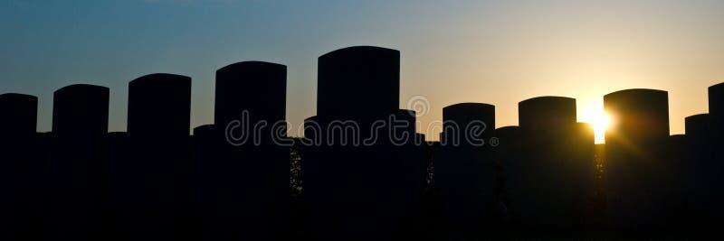 Lápidas mortuorias fotografía de archivo