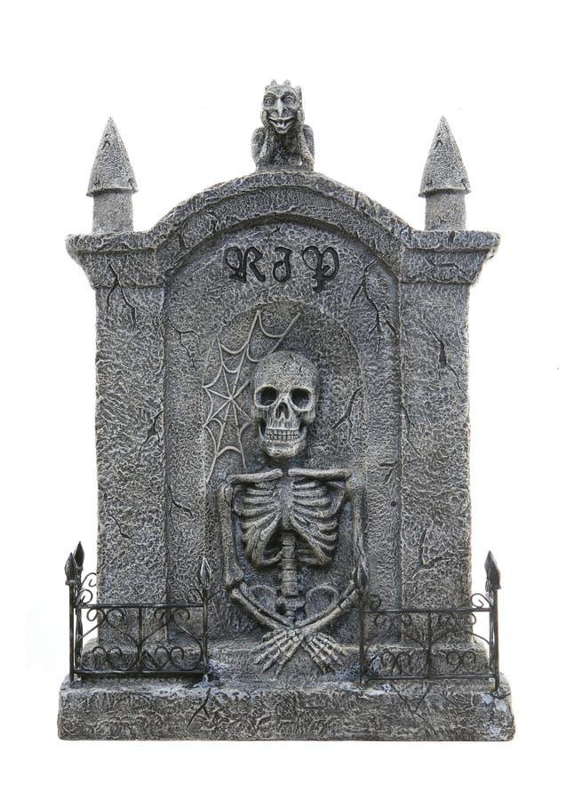 Lápide de Halloween fotografia de stock