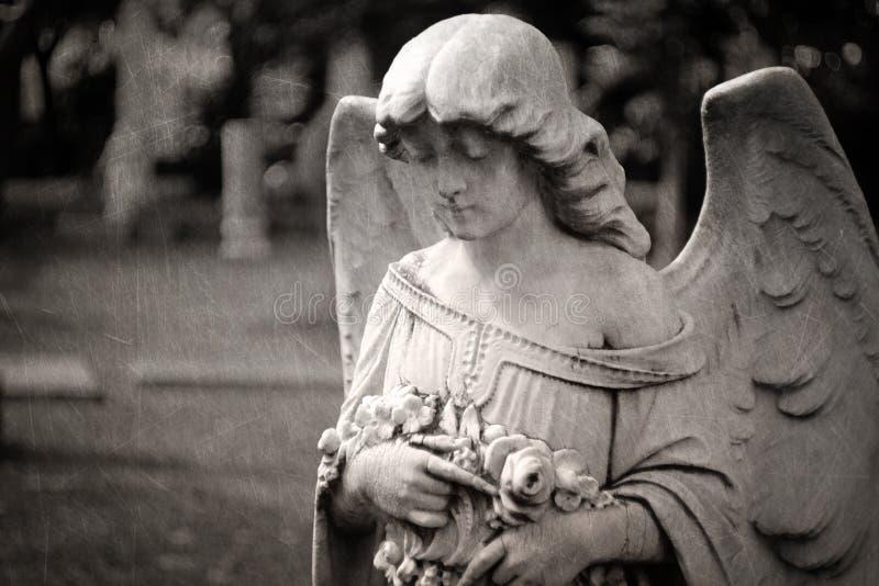 Lápide do anjo - textured fotografia de stock royalty free