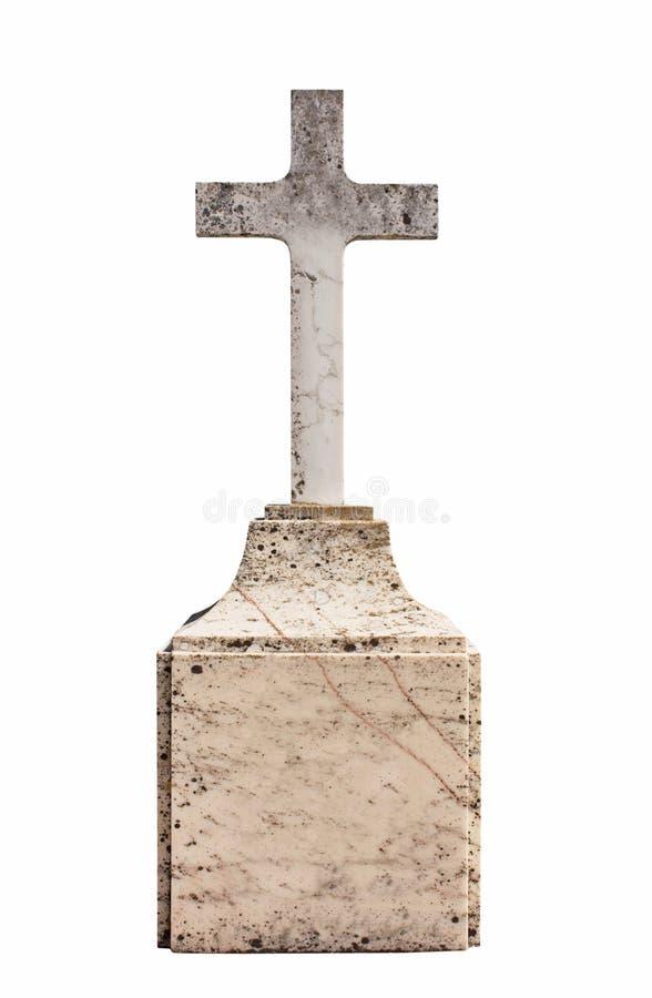 Lápide em branco cristã fotografia de stock