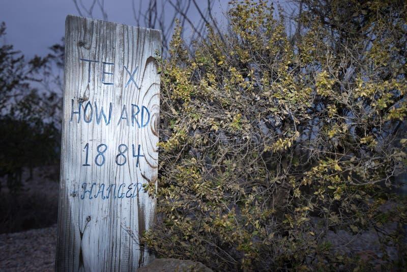 Lápide o Arizona EUA do cemitério de Boothill fotos de stock royalty free