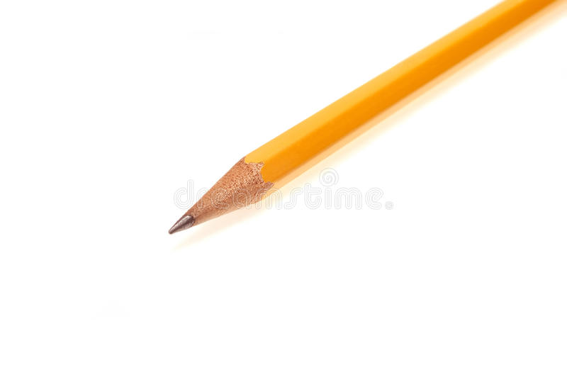 Lápis amarelo. fotografia de stock royalty free
