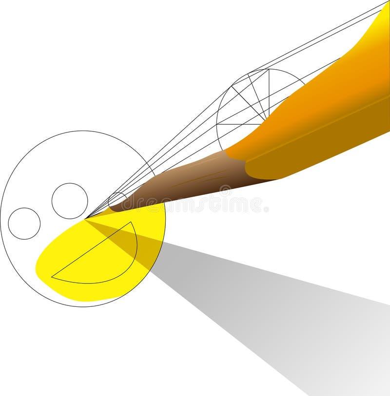 Lápis amarelo imagens de stock royalty free
