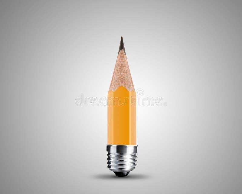 Lápis amarelo Sharpened ilustração do vetor