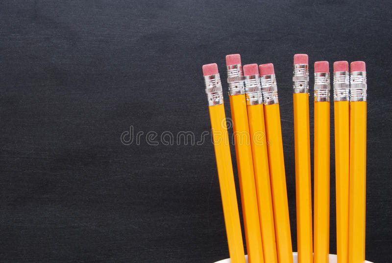 Lápis amarelos fotos de stock royalty free