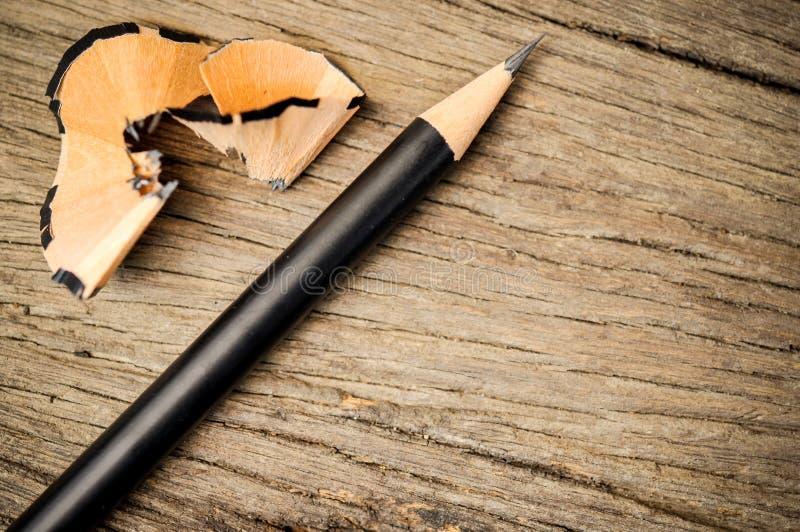 Lápis após aparas imagens de stock