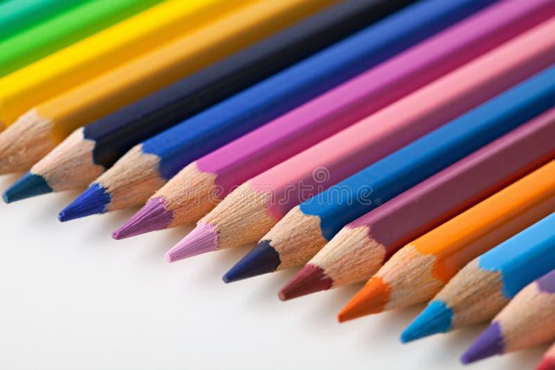 Lápis colorido. fotografia de stock