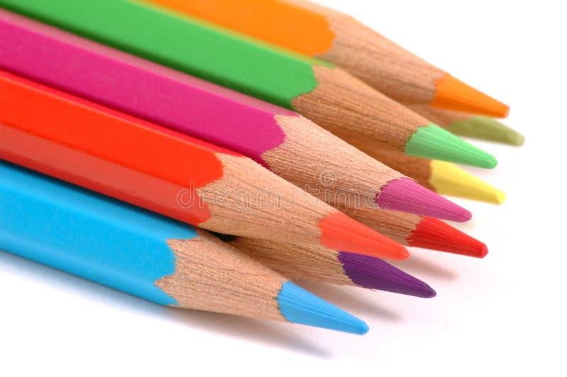 Lápis coloridos. foto de stock