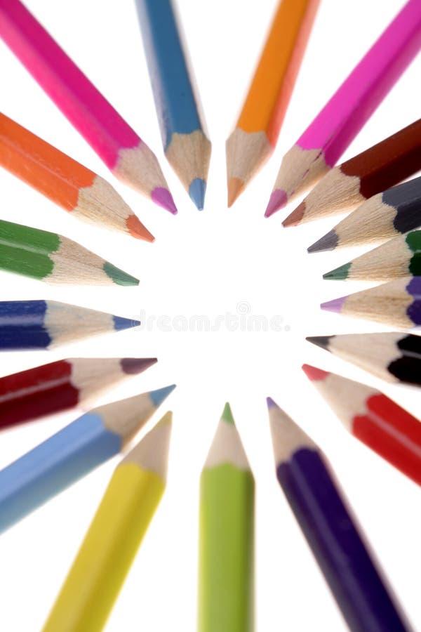 Lápis coloridos foto de stock