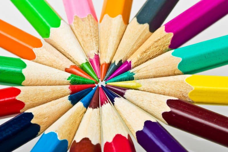 Lápis coloridos fotografia de stock
