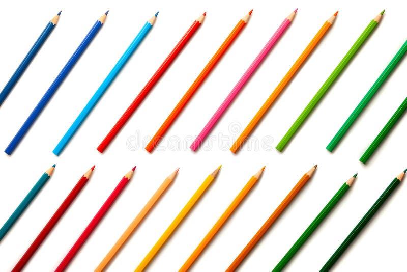 Lápis coloridos ajustados imagem de stock royalty free