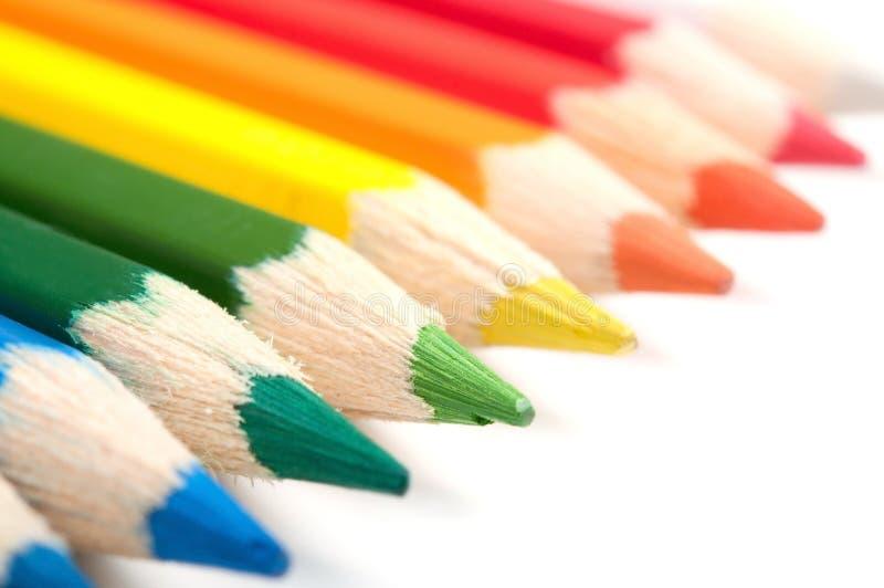 Lápis coloridos, close-up foto de stock