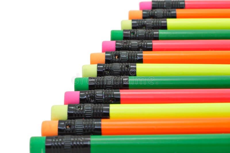 Lápis coloridos da escrita imagem de stock