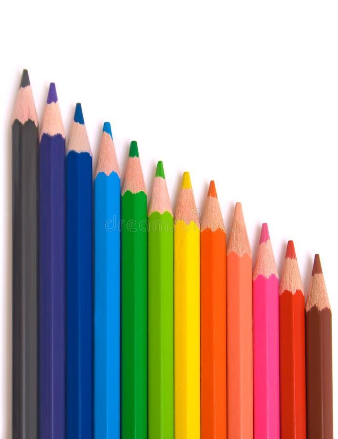 Lápis coloridos para a escola foto de stock