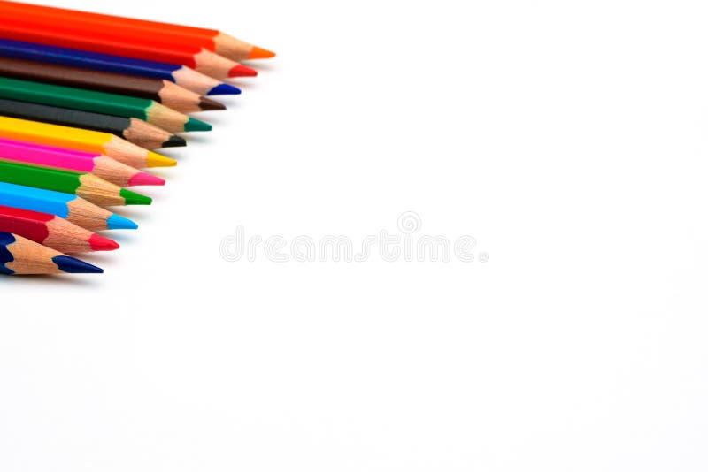 Lápis coloridos Sharpened foto de stock