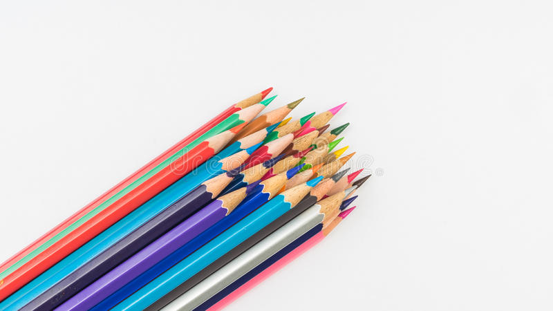 Lápis da coloração fotografia de stock